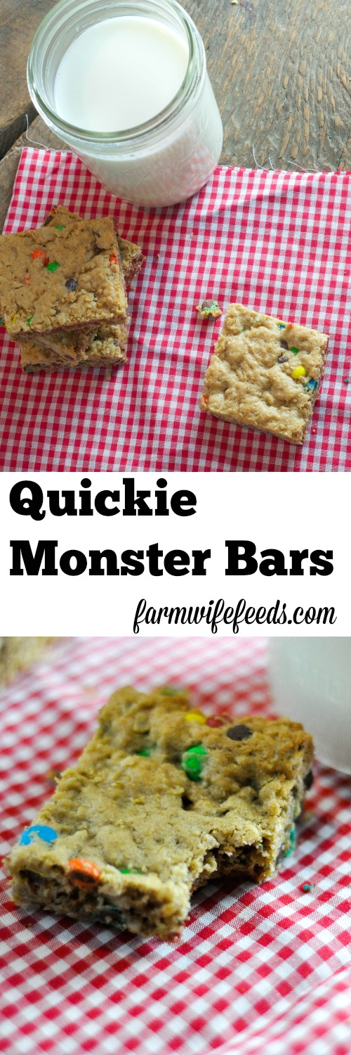 Quickie Monster Bars are so easy and kids love them!