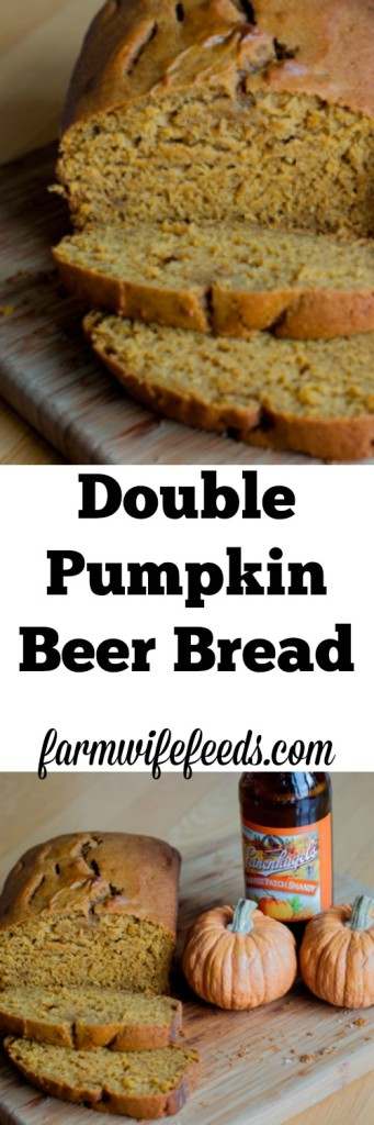 Let's add pumpkin to our Pumpkin Beer Bread and make Double Pumpkin Beer Bread! You won't be sorry, so easy to make and tastes fantastic!