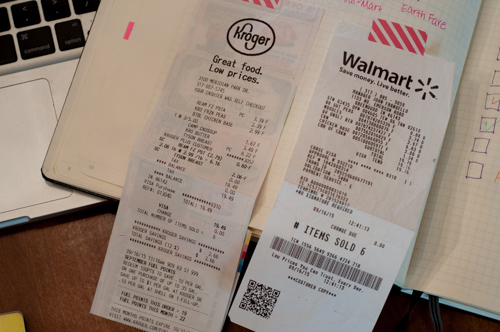 Grocery Store receipts-1