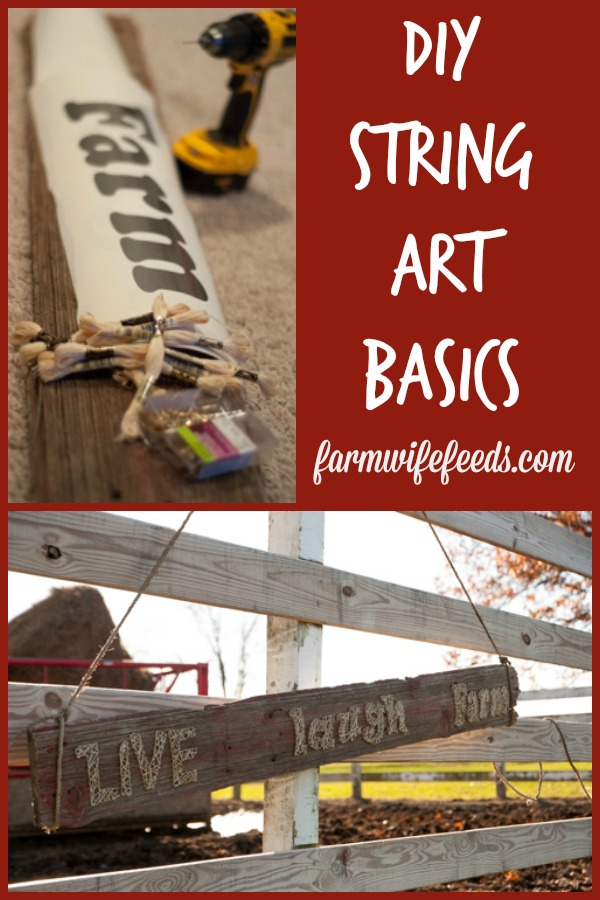 The basics of DIY String Art from Farmwife Feeds, a simple fun do it yourself project to give as a gift or for your home.