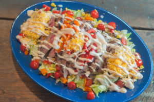 This Southwest Steak Fajita Salad made with a flank steak is super easy to throw together while the steak is on the grill and is super delicious!