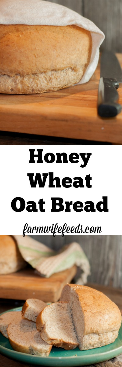 This homemade Honey Wheat Oat Bread recipe is super simple, super yummy and pleases everyone!