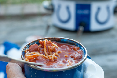 This Easy Sausage Chili has only 6 ingredients but is deep and rich in flavor and a great meal!