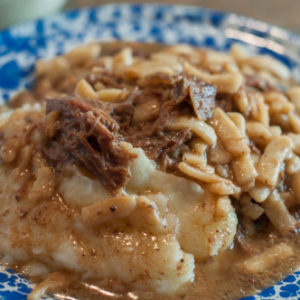 Crock Pot Beef & Noodles is an easy dump and go recipe that is crowd & family pleaser!