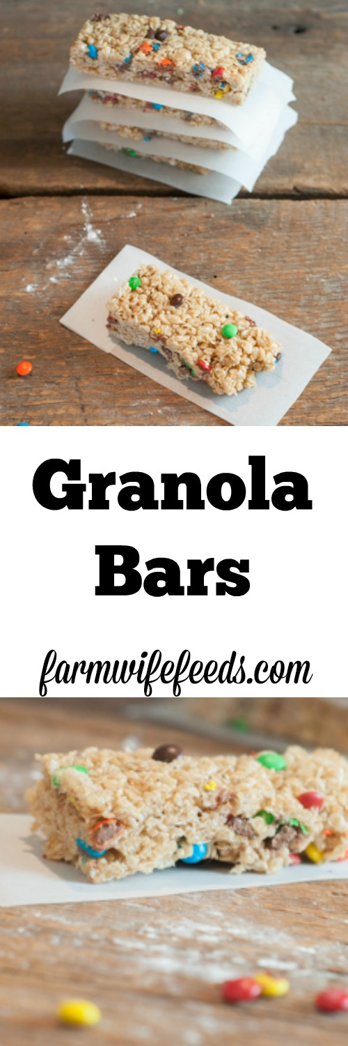These Granola Bars are a great treat that you can mix in your favorite add-ins to make just the way you like!