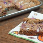 Halloween Monster Cookie Bars