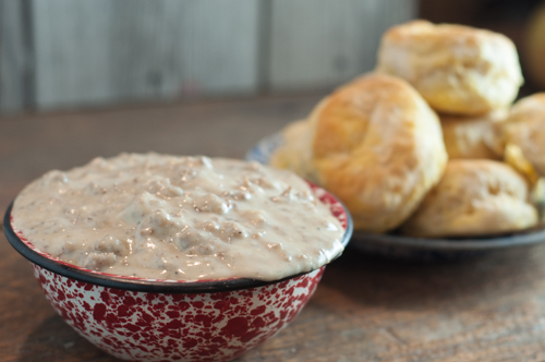 Homemade Sausage Gravy is really easy to make. Great for a weekend breakfast or a weeknight supper.