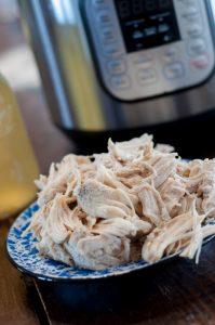 Freezer Meal Instant Pot Shredded Chicken