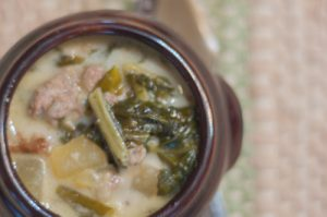 Tuscan Sausage and Kale Soup is packed with protein and all the good things Kale has to offer, a super quick stove top recipe!