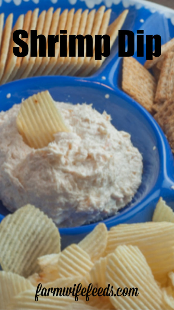 Super Simple Shrimp Dip from Farmwife Feeds is a quick make ahead appetizer that was a hit in the 70's and still a hit! #dip #appetizer #shrimp #seafood #recipe