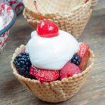 Marshmallow Dip Fruit Cup Sundae