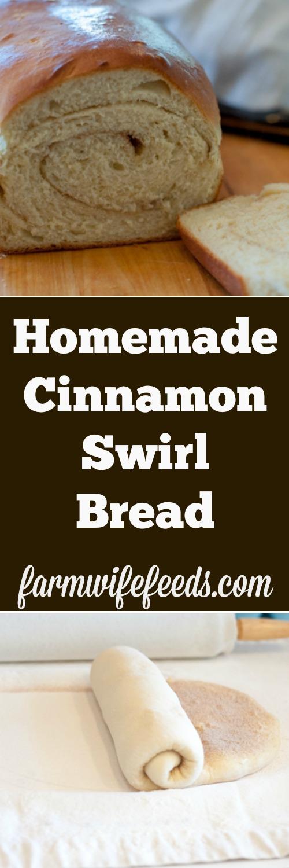Homemade Cinnamon Swirl Bread by Farmwife Feeds, tried and true sweet yeast bread recipe #reciepe #farmwifefeeds #bread #homemade