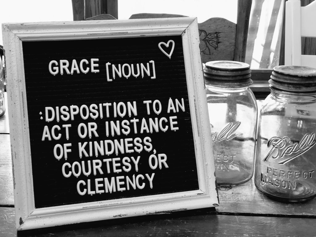 Why do we give all our grace away when it is unlimited and we deserve it from ourselves?