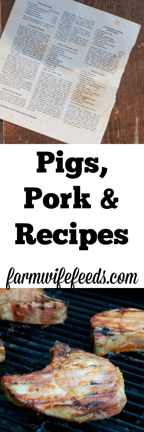 Pigs, Pork and Recipes by Farmwife Feeds #recipe #pork #farmhouse