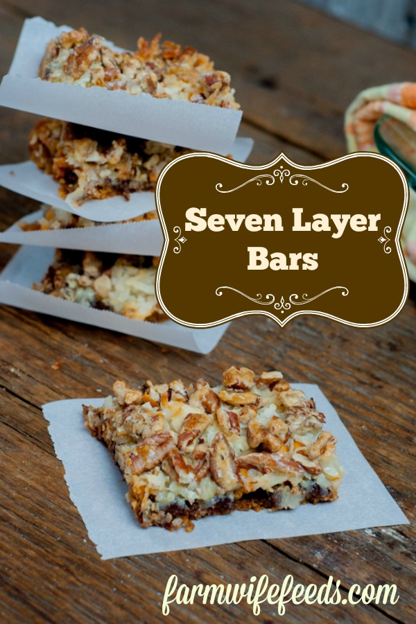 Classic Seven Layer Bars from Farmwife Feeds - simple easy delicious snack or dessert #recipe #dessert #snack