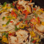 Easy Skillet Peppers, Onions and Pork Chops