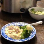 Crock Pot Creamy Scalloped Potatoes and Ham