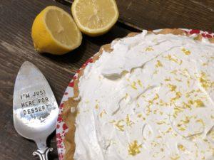 Lemon Luscious Pie from Farmwife Feeds is a creamy fresh lemon pie perfect for that summer feeling. #lemon #pie #recipe