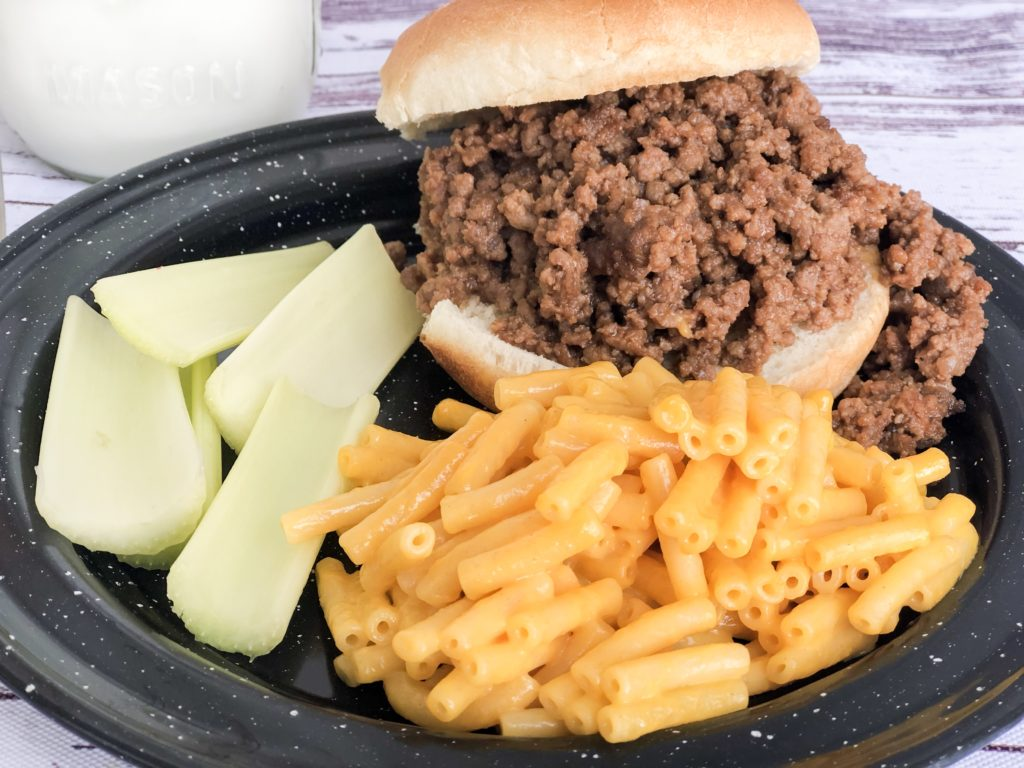 Mom's Sloppy Joes from Farmwife Feeds is a great in a hurry sandwich that pleases everyone. #hamburger #groundbeef #sandwich #easy