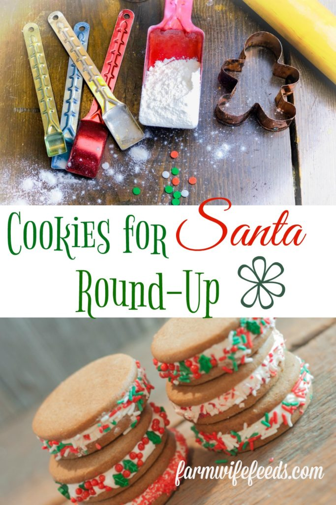 """Cookies for Santa Round-Up from Farmwife Feeds, 25 cookie recipes to please any """"Santa"""" and all the kids. #Santacookies #cookies #recipe #holiday"""