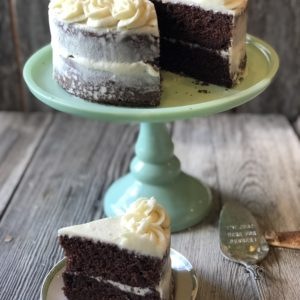 Chocolate Mix Bakery Cake from Farmwife Feeds easily takes a box mix to the next level just as fast as the directions on the box. #cake #boxmix #bakery #recipe #homemade