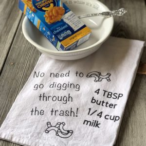 Kraft Dinner Ingredients Kitchen Towel