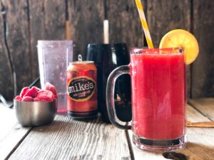 Hard Lemonade Fruit Slushie from Farmwife Feeds is a refreshing cocktail for any occasion, even a Tuesday! #cocktail #hardlemonade #slushie #slushy