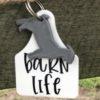 Livestock Ear Tag, Barn Life Keychain