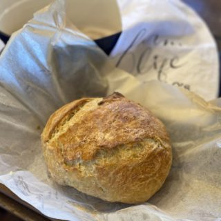 Crusty No Knead Dutch Oven Bread from Farmwife Feeds is a simple 4 ingredient recipe for fresh homemade artisan bread. #homemade #dutchoven #bread #artisan