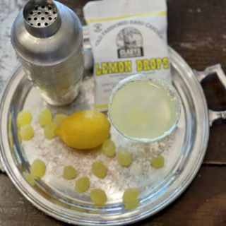 Lemon Drop Martini from Farmwife Feeds is a sweet tart decadent cocktail that's super easy to make at home. #martini #lemon #vodka #cocktail